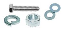 Комплект: Болт DIN558/933 + Шайба плоская DIN125А + Шайба гровер DIN127B + Гайка DIN934