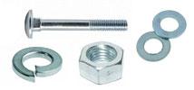 Комплект: Болт DIN603 + Шайба плоская DIN125А + Шайба гровер DIN127B + Гайка DIN934