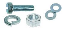 Комплект: Винт DIN84 + Шайба плоская DIN125А + Шайба гровер DIN127B + Гайка DIN934