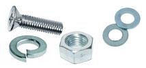 Комплект: Винт DIN965 + Шайба плоская DIN125А + Шайба гровер DIN127B + Гайка DIN934